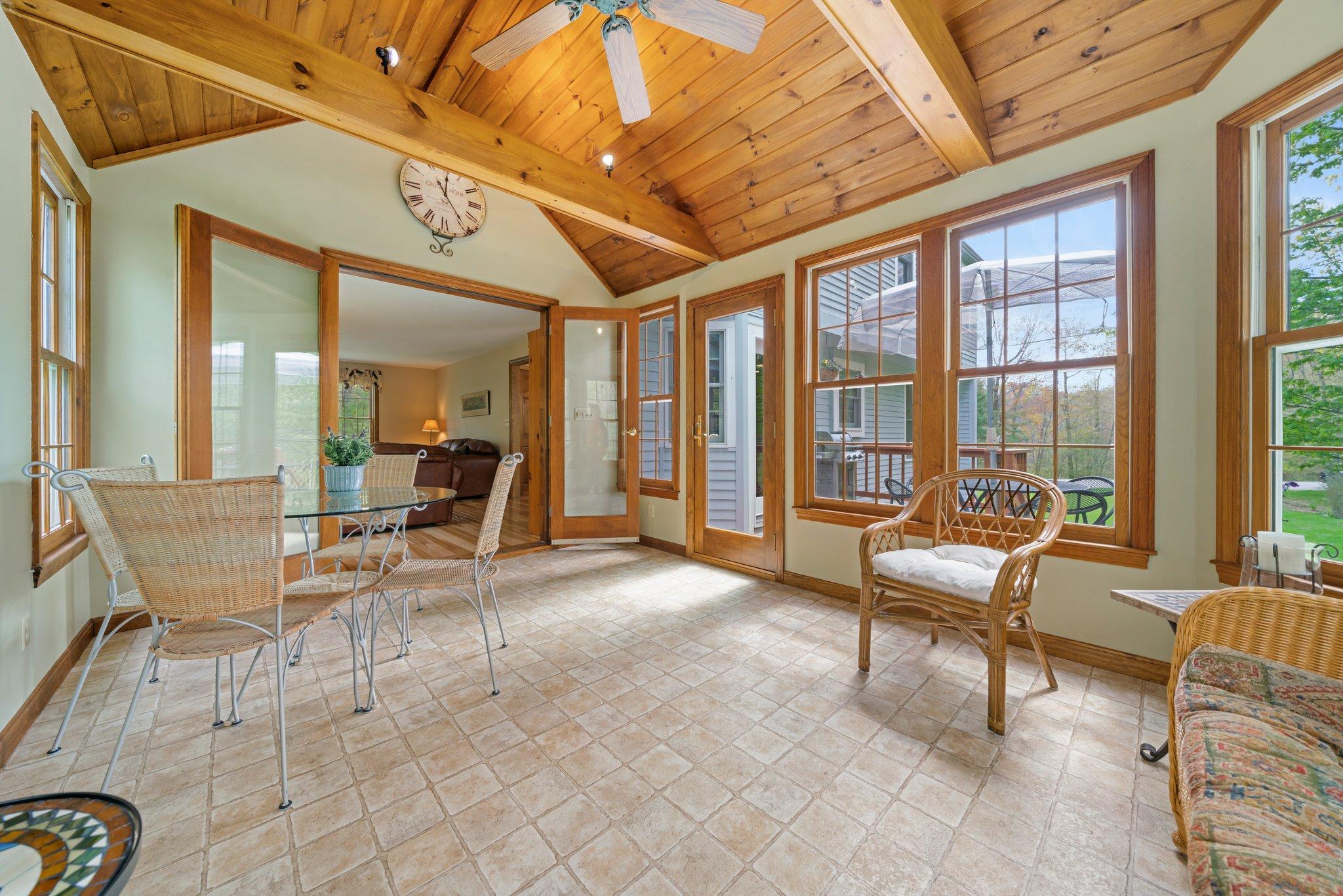 3-season porch - off living room