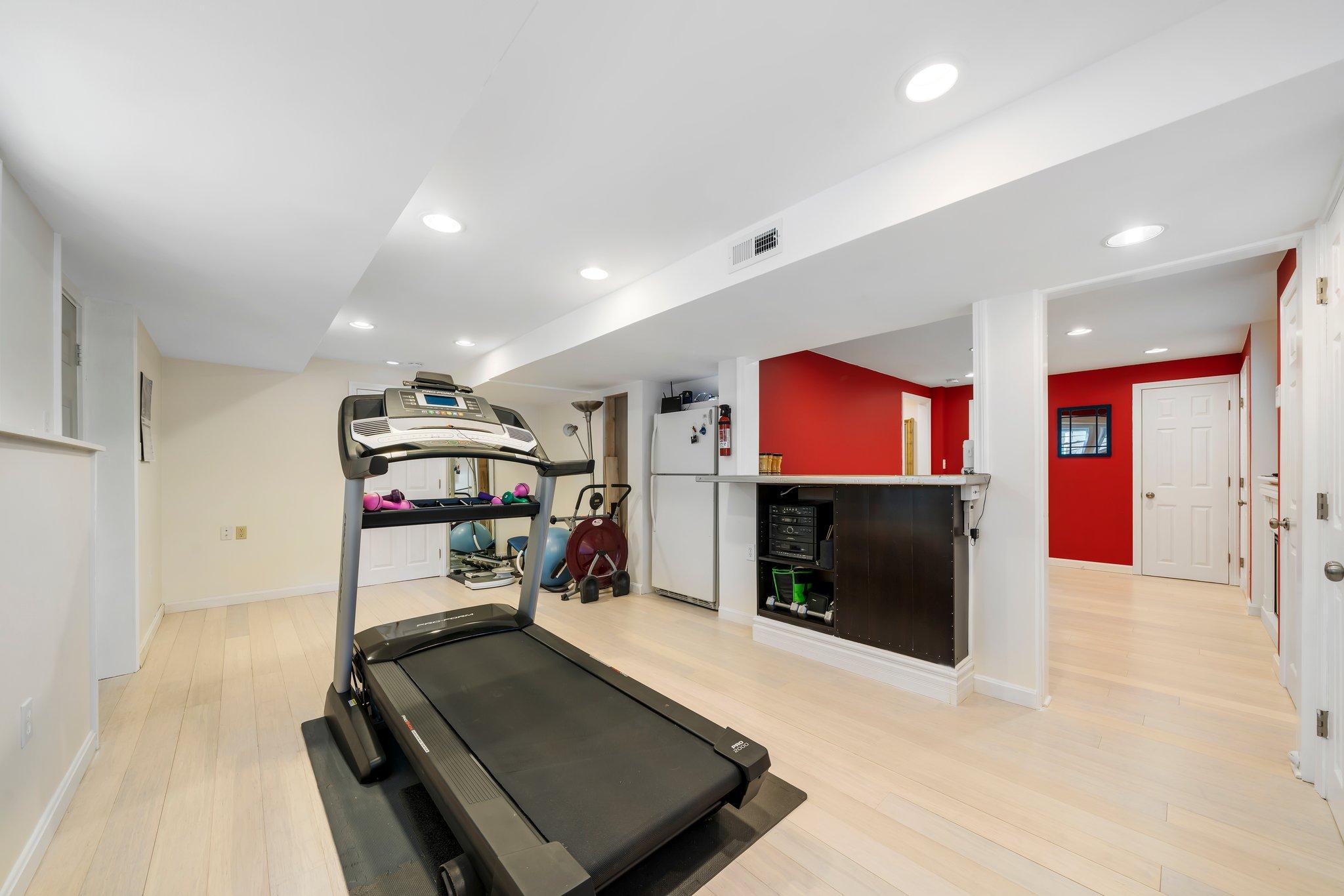 Work out or bonus room basement