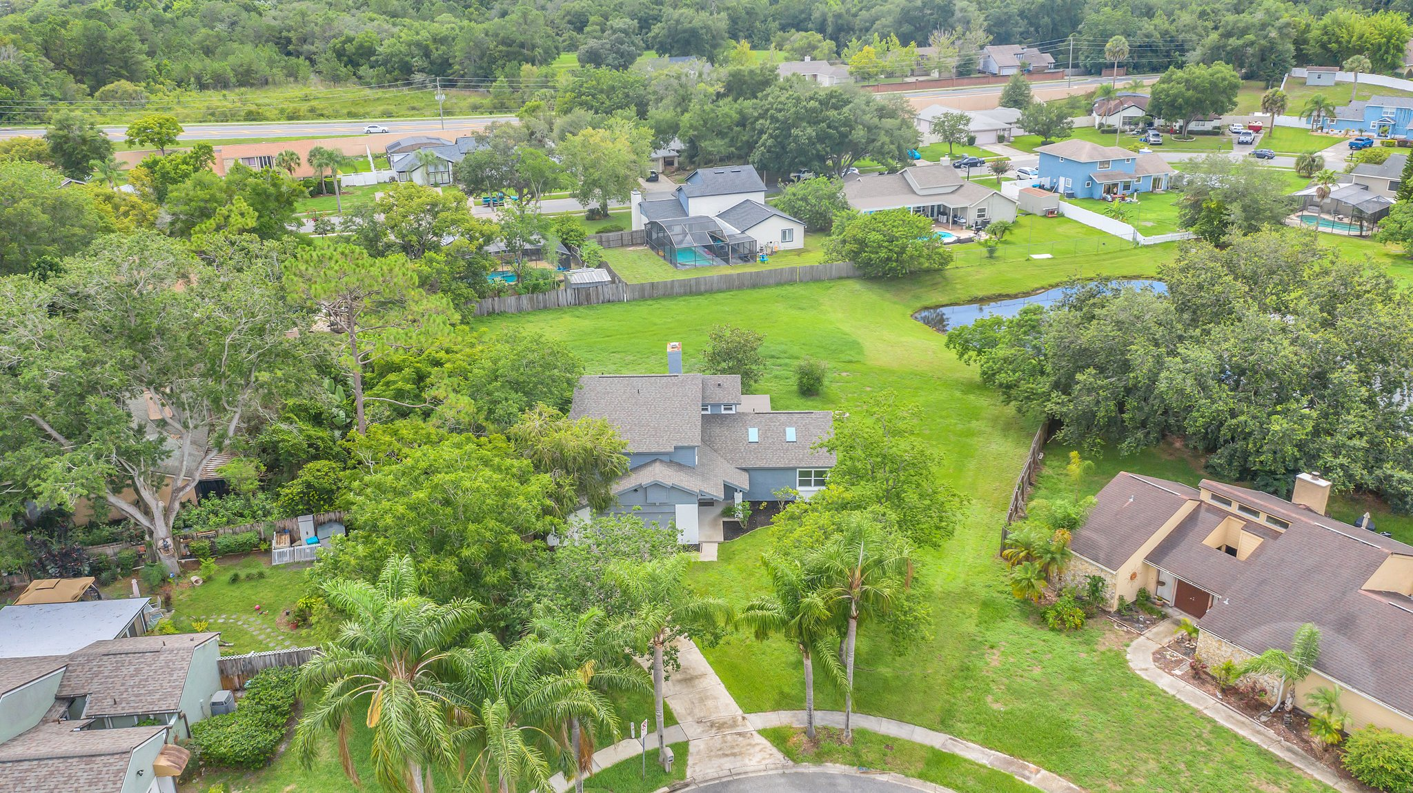 Over .34 acres of privacy and WATER VIEW!