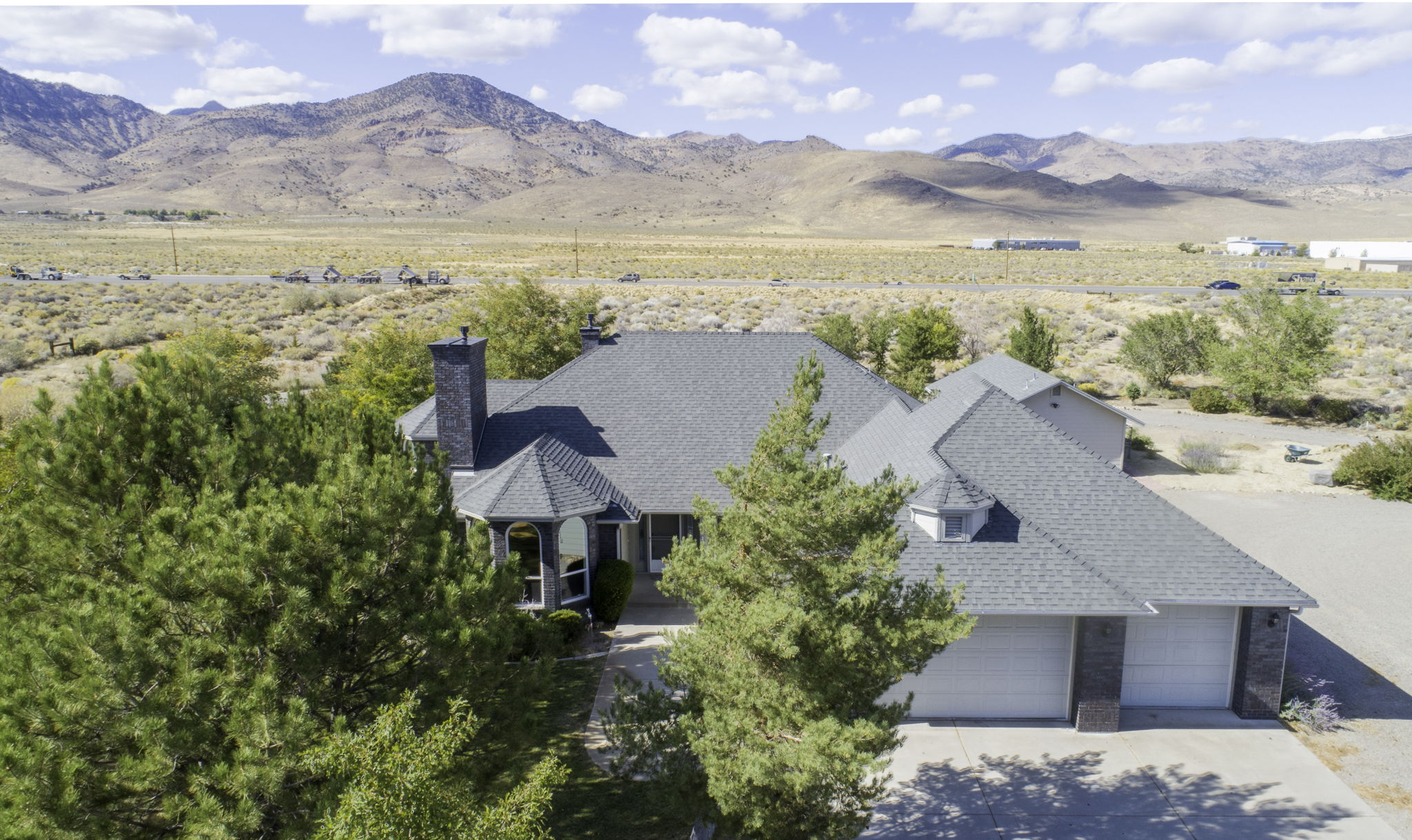 Aerial Front of Home view