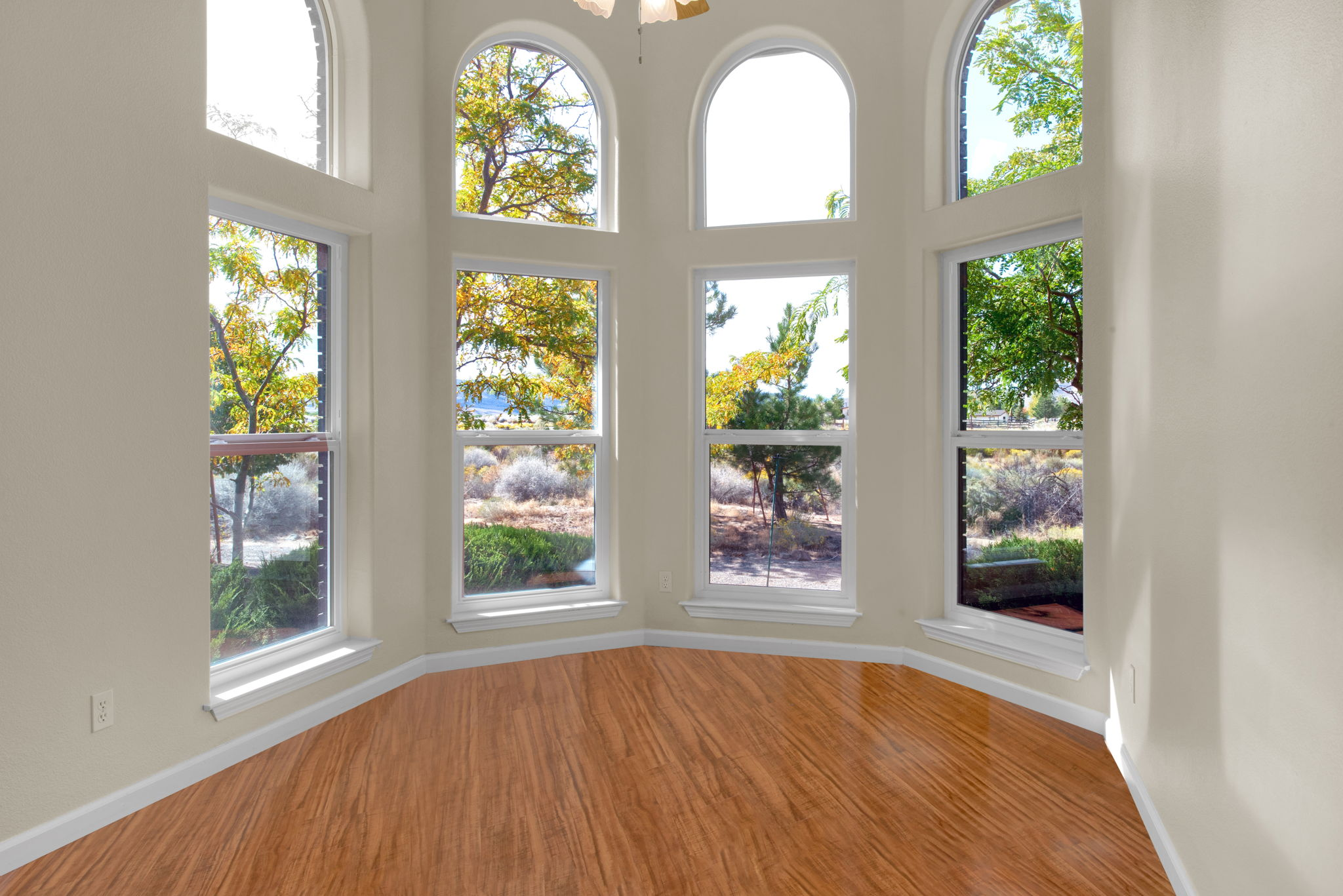 Window view of Formal Dining