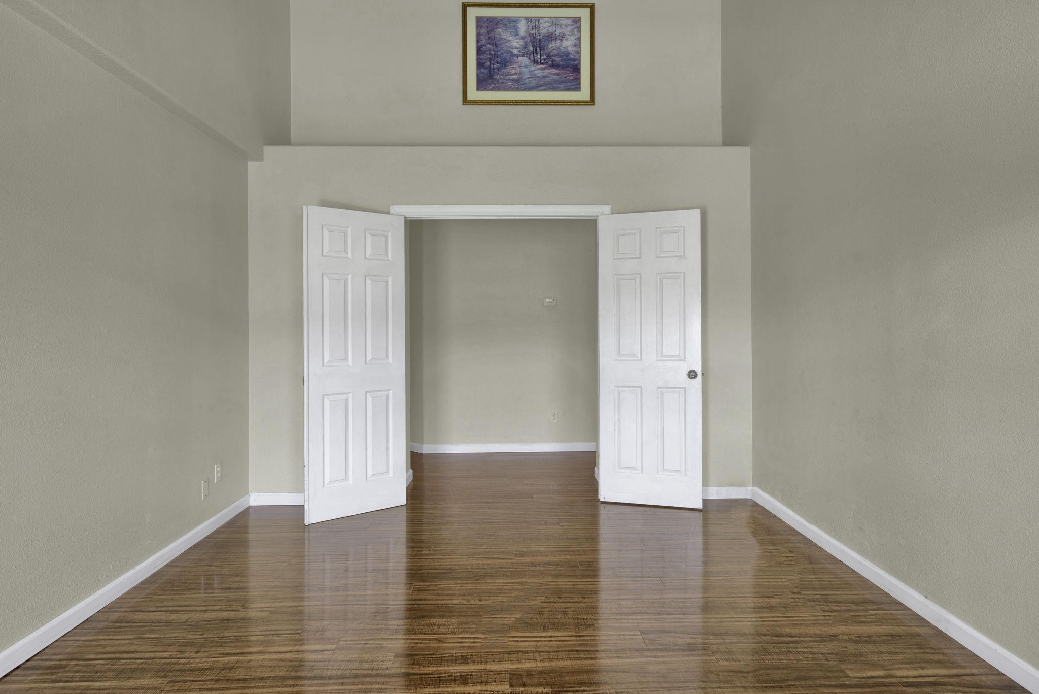 Looking out door Master Bedroom