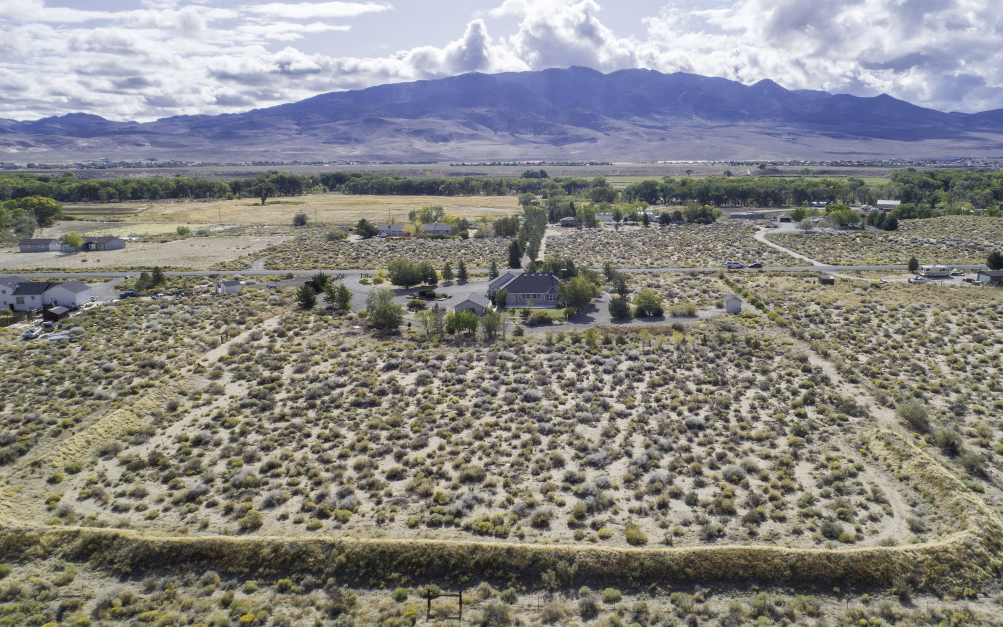 Back Aerial View of Property