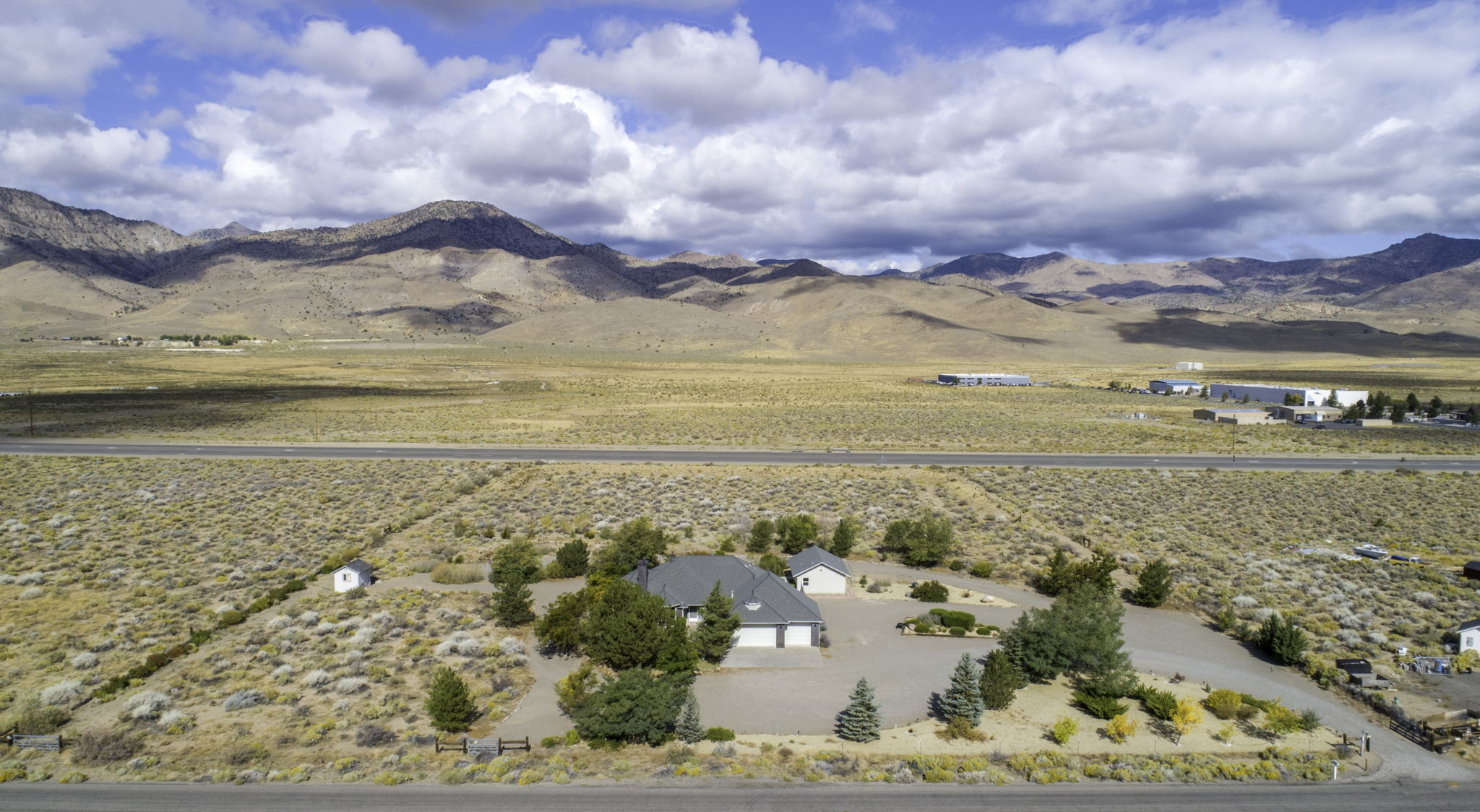 Front Aerial view of home