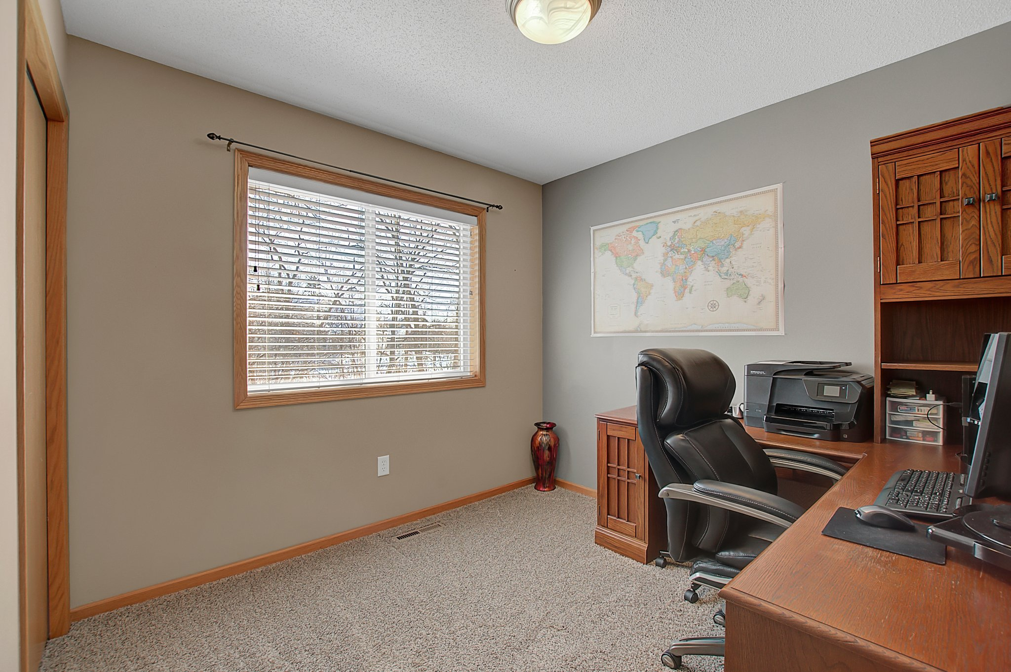Bedroom 2 Upper, Used as an office right now.