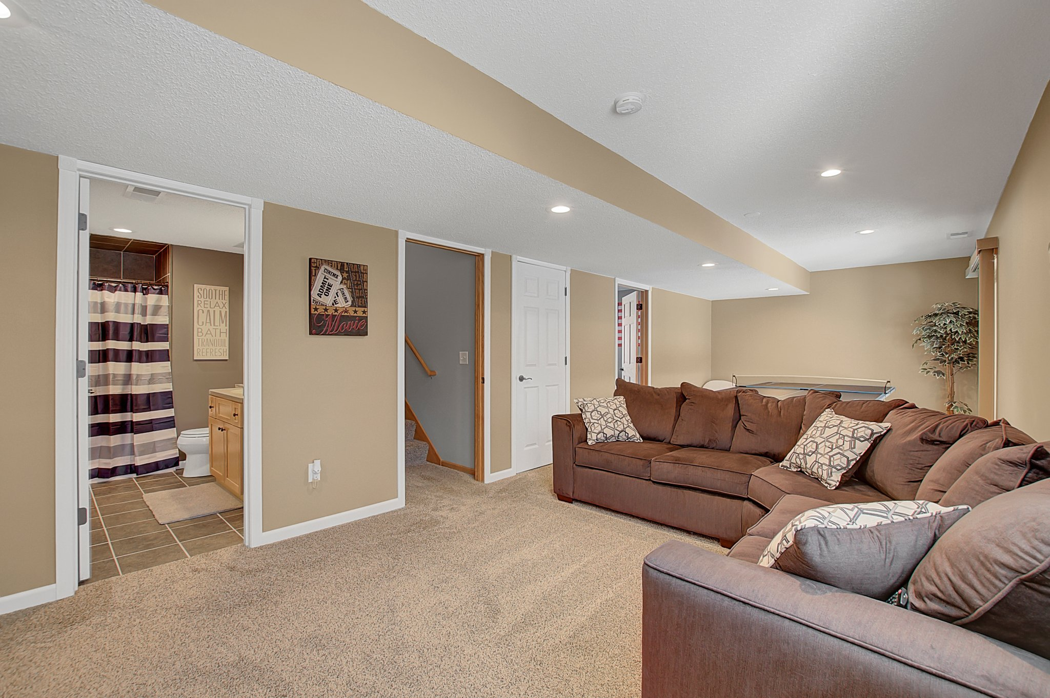 Nice Cozy Family Room on Lower level