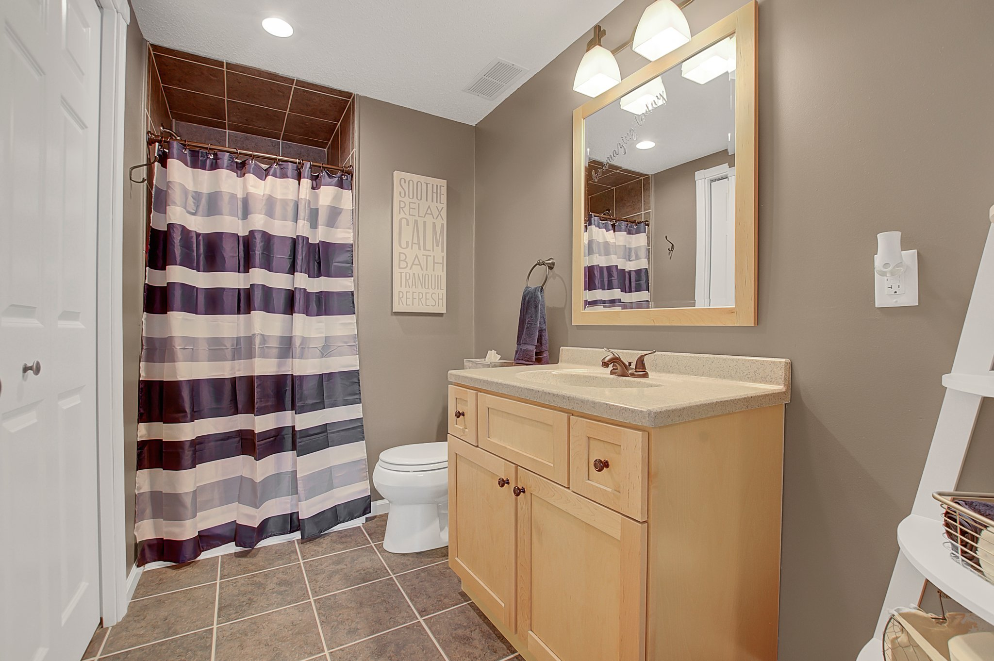 Updated Lower level 3/4 Bathroom