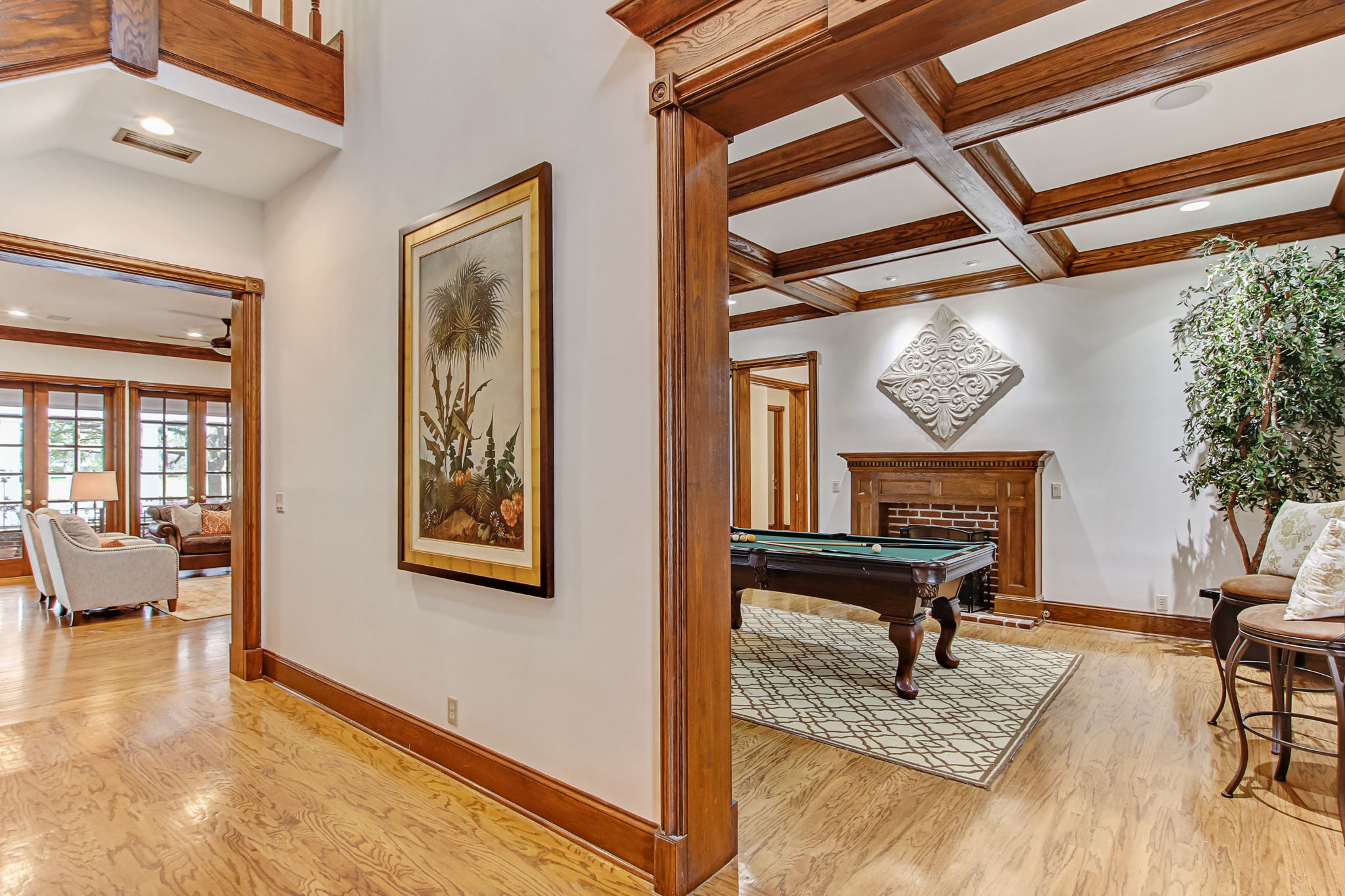 Entry Hall, Living & Family Room