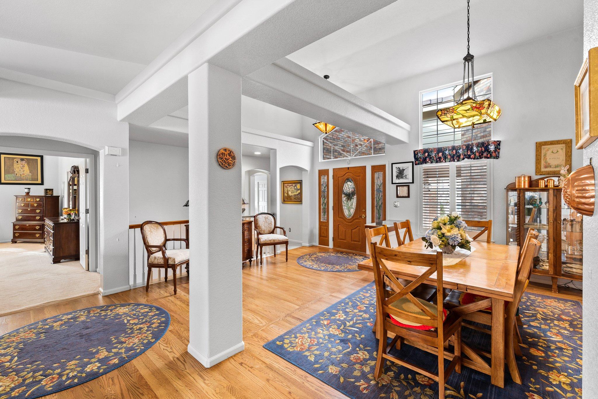Hardwood in dining room
