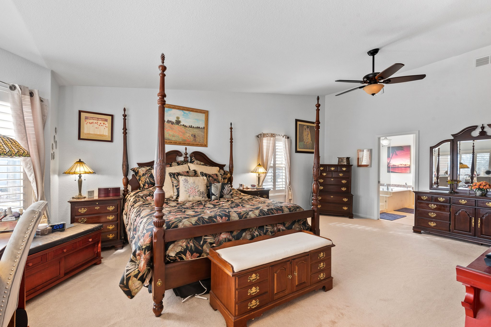 Master suite located at the back of the home
