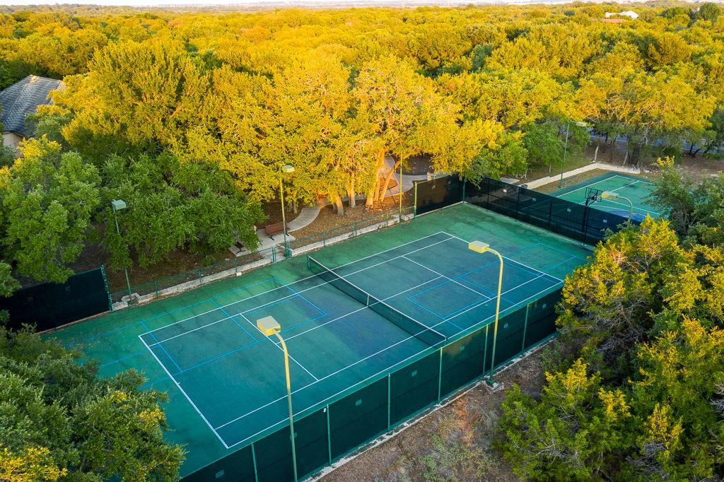 Aerial of Tennis Court