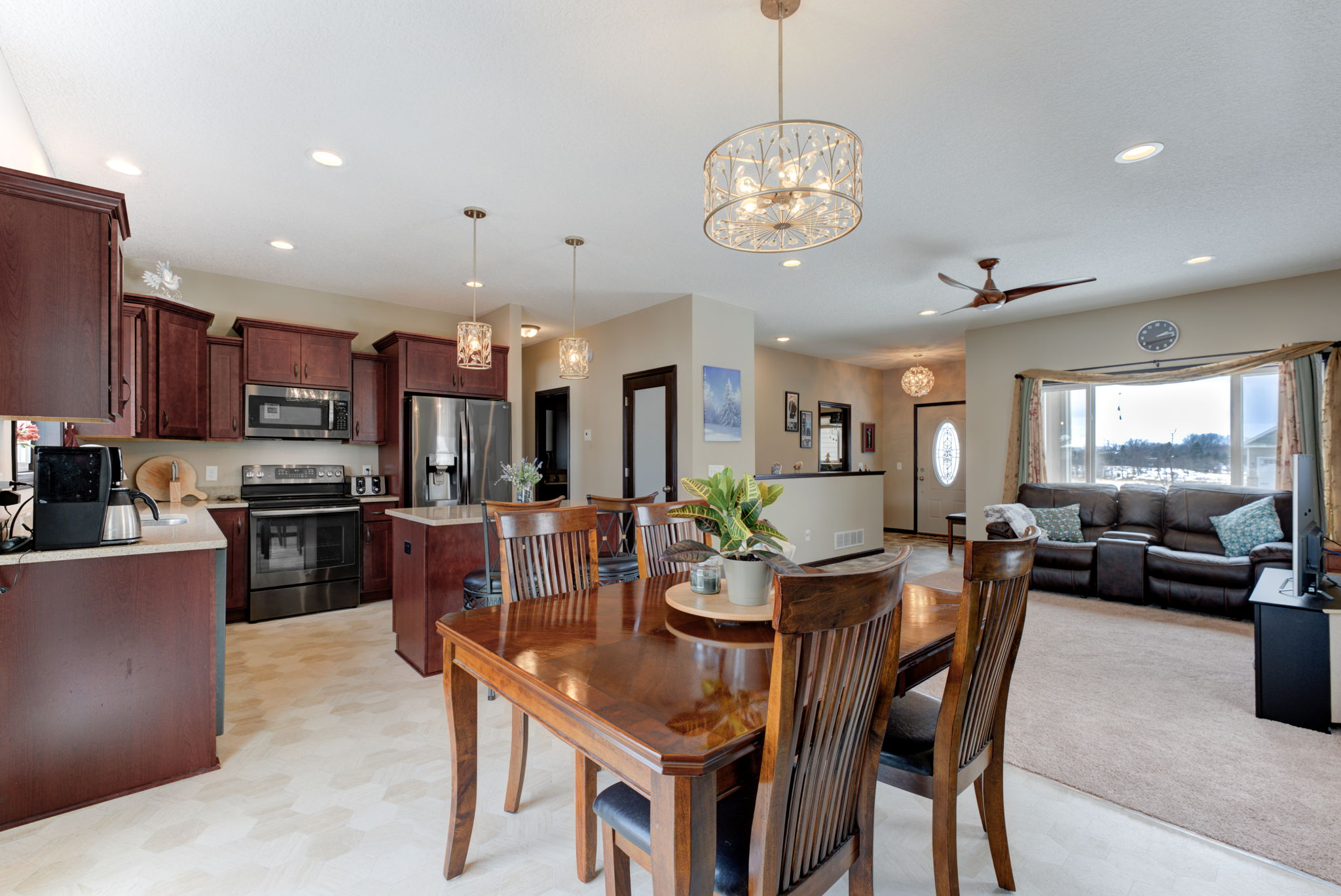 Great Room, Kitchen, Dining Area