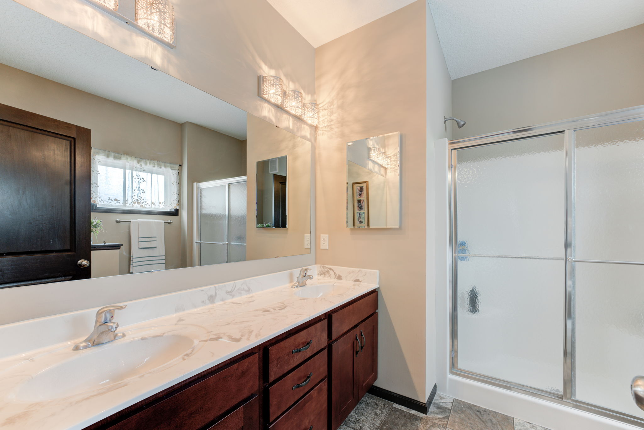 Master Bath with twin sinked vanity